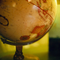An old fashioned globe